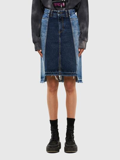 Diesel - DE-PAU-SP, Medium blue - Skirts - Image 1