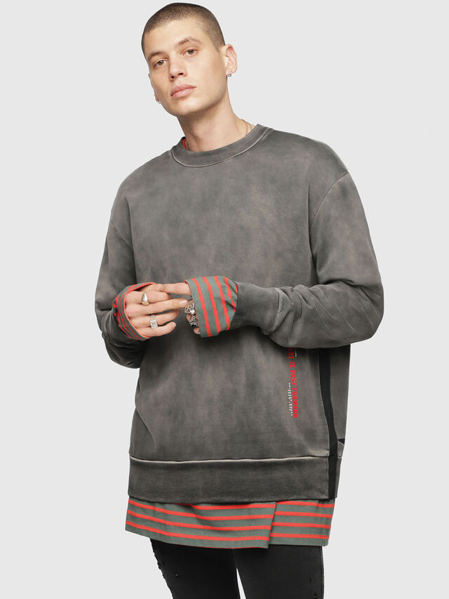 Diesel - S-BAY-YA, Black/Grey - Sweaters - Image 1