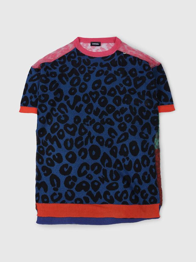 Diesel - KMLEO, Black/Multicolor - Knitwear - Image 1