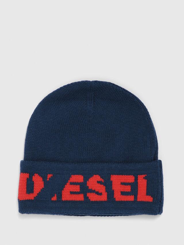 Diesel - K-CODER-C, Dark Green - Knit caps - Image 1