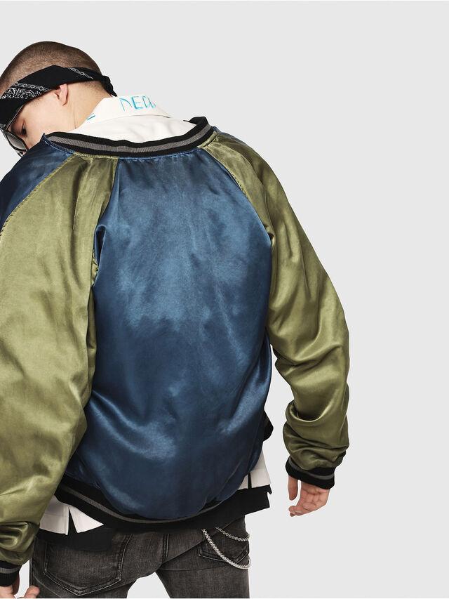 Diesel - J-NAO, Black/Green - Jackets - Image 4