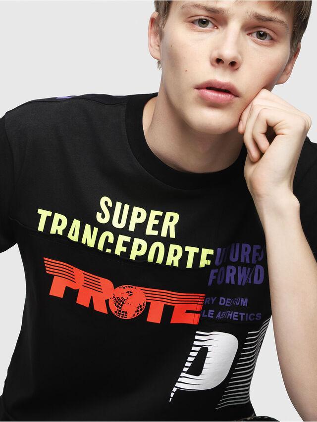 Diesel - T-WALLACE-CUT, Black - T-Shirts - Image 4