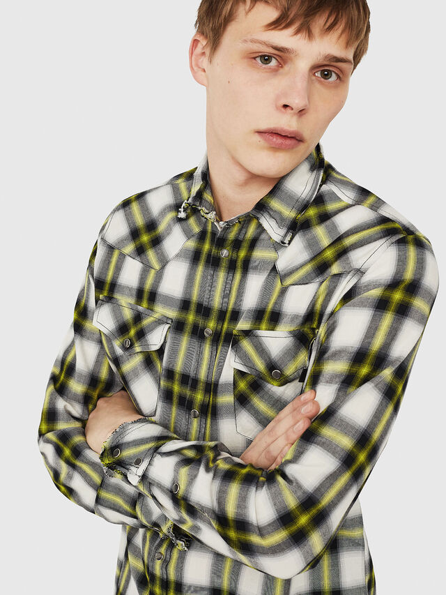 Diesel - S-EAST-LONG-G, White/Black - Shirts - Image 4