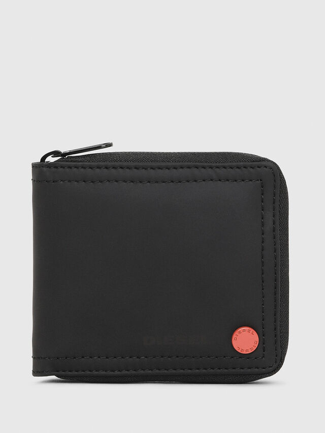 Diesel - ZIPPY HIRESH S, Black/Red - Zip-Round Wallets - Image 1