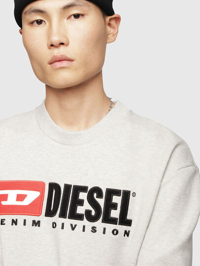Diesel - S-CREW-DIVISION, Light Grey - Sweaters - Image 3