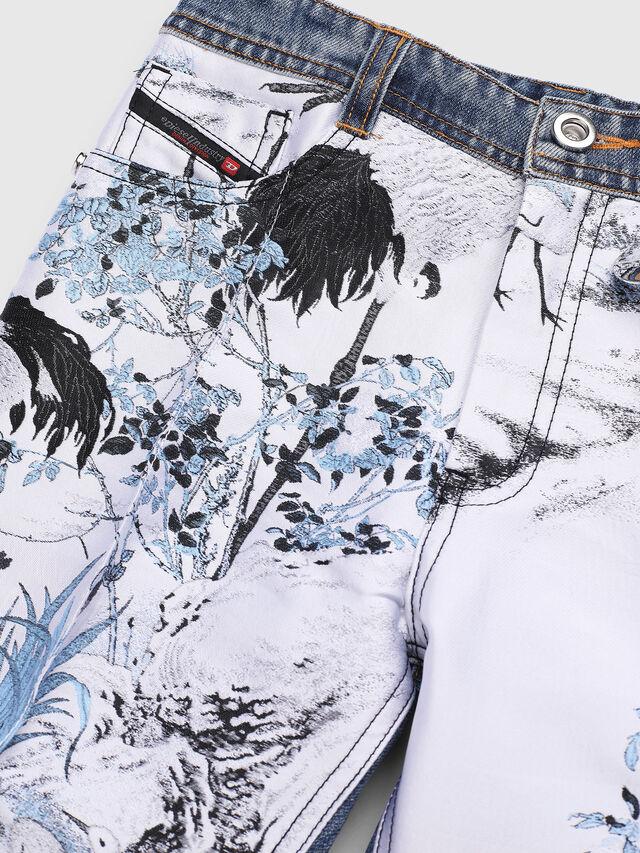Diesel - PGITTE, White/Blue - Pants - Image 3