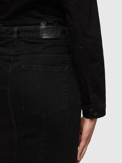 Diesel - DE-PENCIL-ZIP, Black - Skirts - Image 3