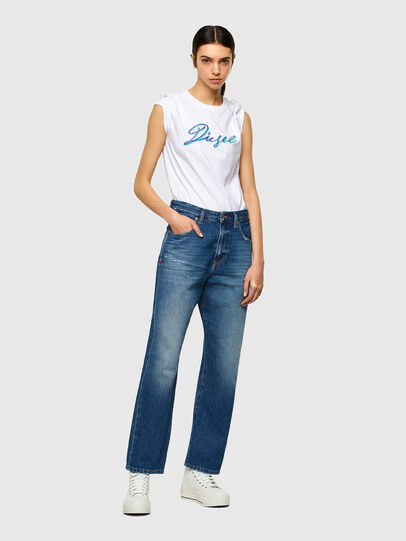 Diesel - T-SILY-K10, White - T-Shirts - Image 4
