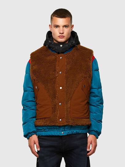 Diesel - W-HEROESY, Blue/Brown - Winter Jackets - Image 1