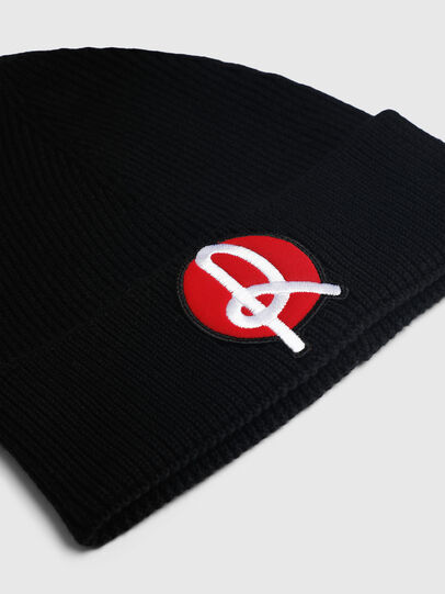 Diesel - LR-BEANY, Black - Knit caps - Image 3