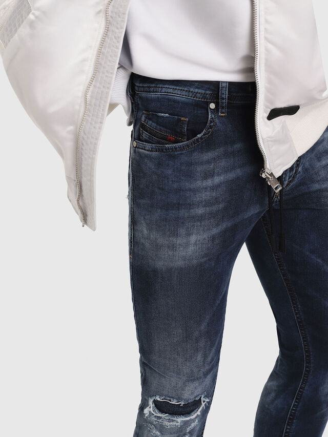 Diesel - Thommer JoggJeans 069AA, Dark Blue - Jeans - Image 3