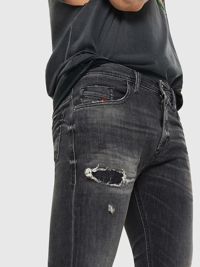 Diesel - Thommer 069DM, Black/Dark grey - Jeans - Image 3
