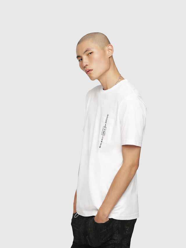 Diesel - T-JUST-POCKET, White - T-Shirts - Image 1