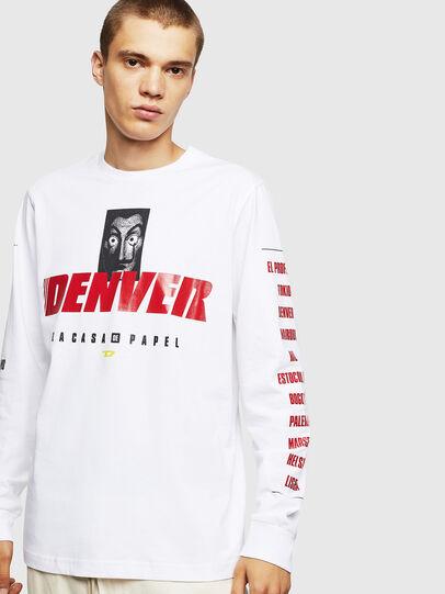 Diesel - LCP-T-JUST-LS-DENVER, White - T-Shirts - Image 1