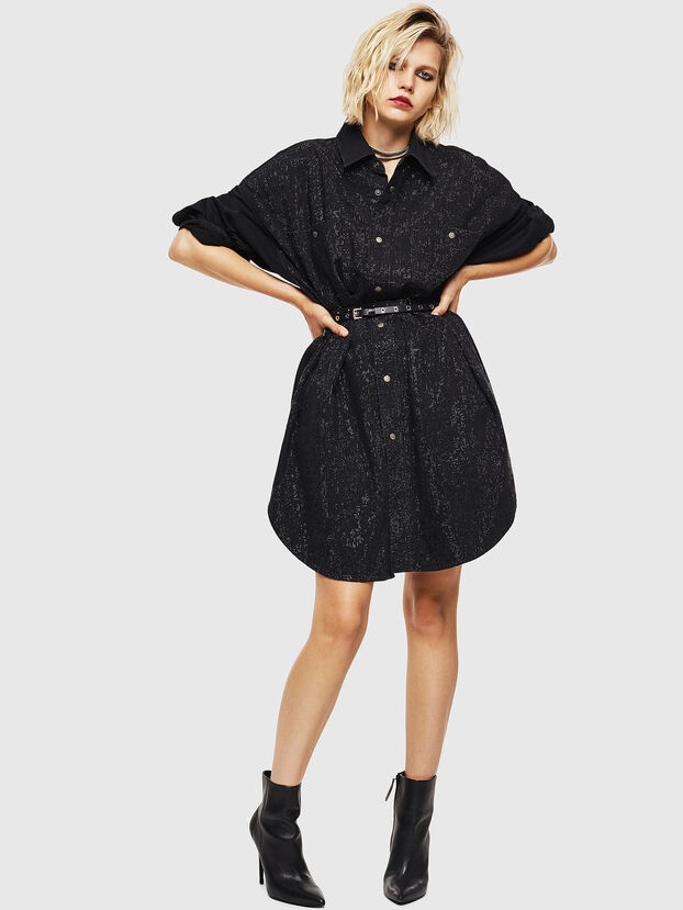 DE-OBAX-SX, Black/Dark grey - Dresses