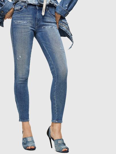 Diesel - Slandy Zip 083AP, Medium blue - Jeans - Image 1