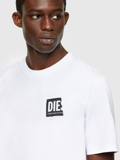 Diesel - T-JUST-LAB, White - T-Shirts - Image 3