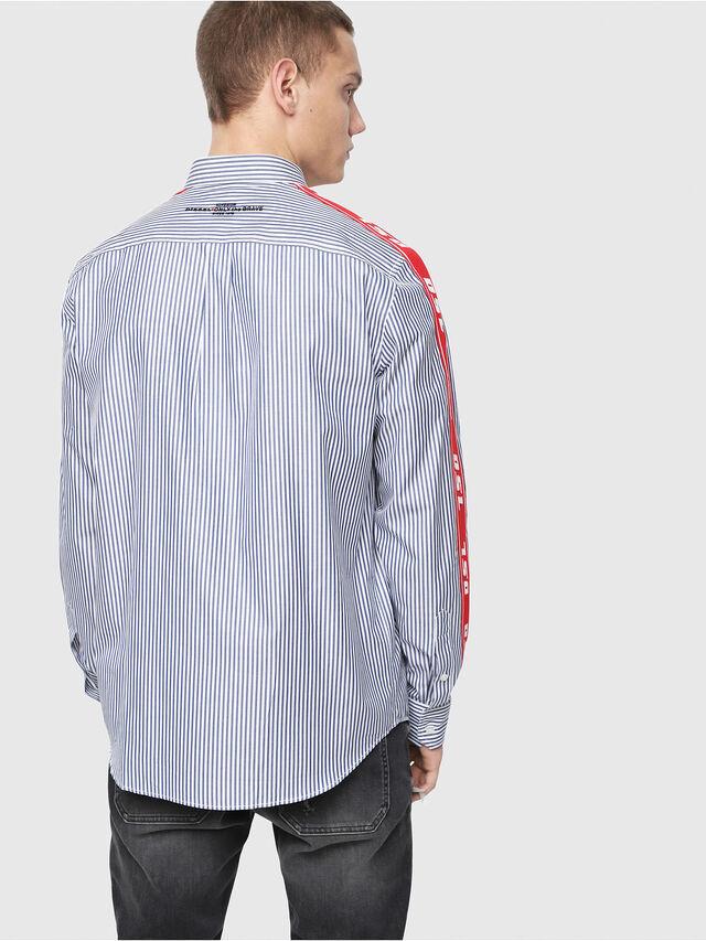 Diesel - S-NORI, Blue/Red - Shirts - Image 2