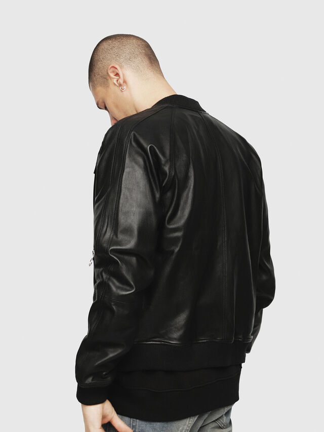 Diesel - L-PINS-A, Black - Leather jackets - Image 2