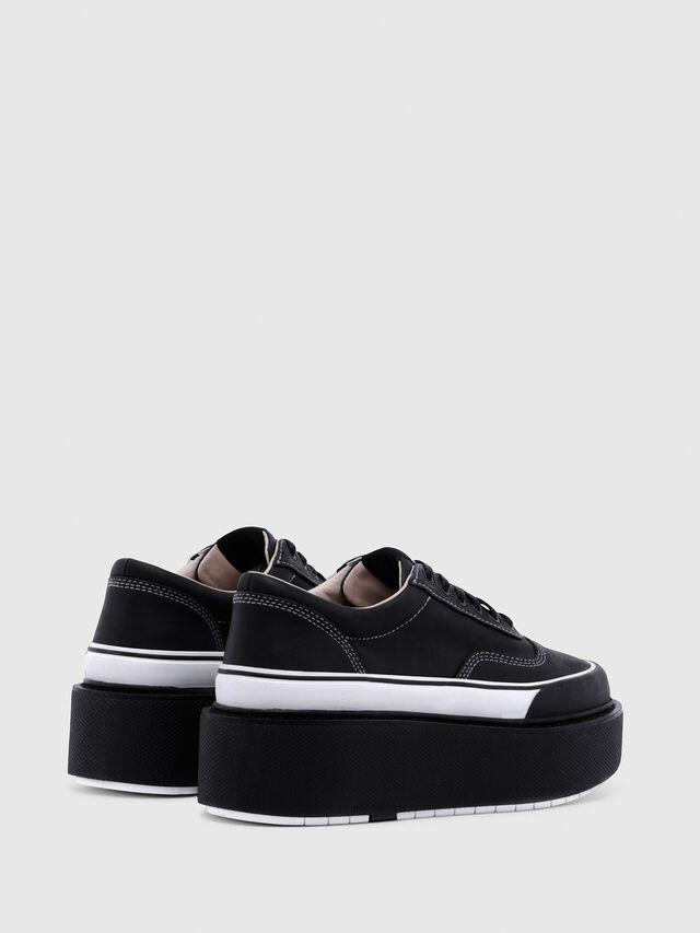 Diesel - H-SCIROCCO LOW, Black/White - Sneakers - Image 3