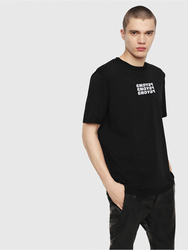 6b884db0f0ca06 T-JUST-Y9 Men: Regular T-shirt with embroideries | Diesel
