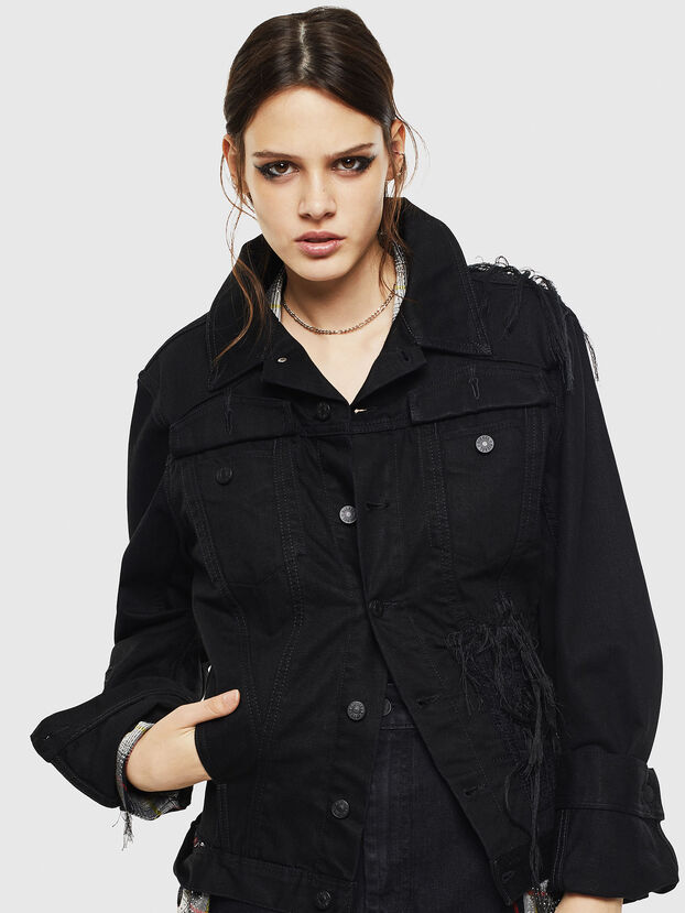 DE-NALINI, Black/Dark grey - Denim Jackets