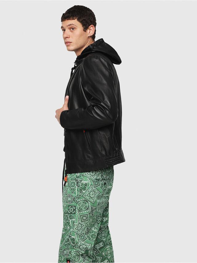 Diesel - L-RESTIL, Black - Leather jackets - Image 3