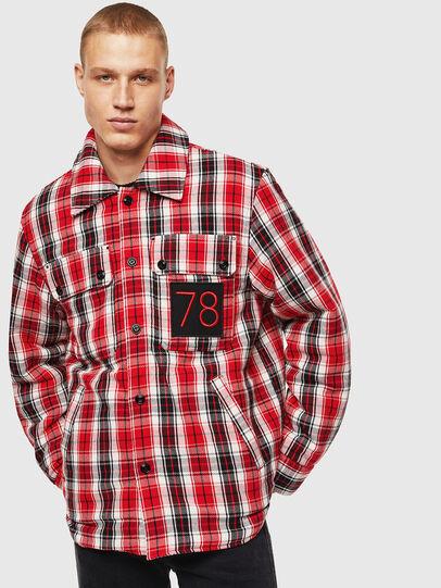 Diesel - S-JOHNS, Red/Black - Shirts - Image 1