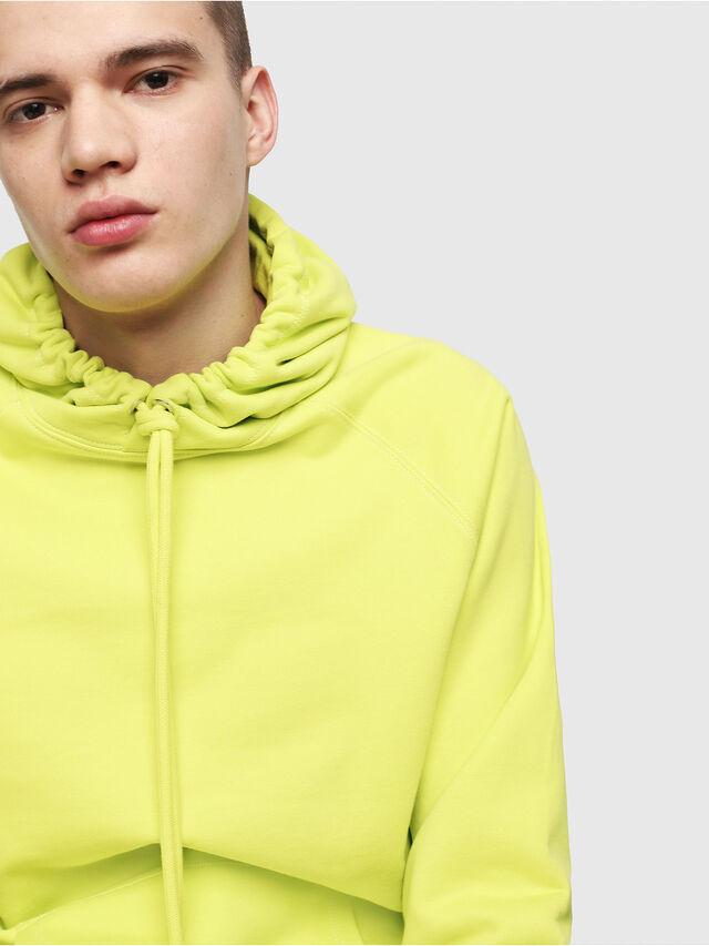 Diesel - S-GIM-HOOD-A, Yellow Fluo - Sweaters - Image 3