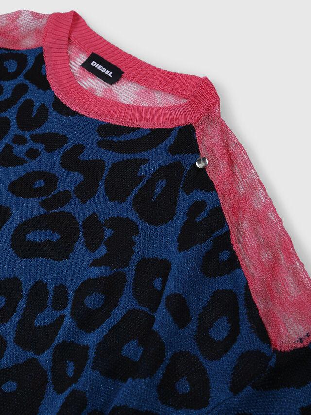 Diesel - KMLEO, Black/Multicolor - Knitwear - Image 3