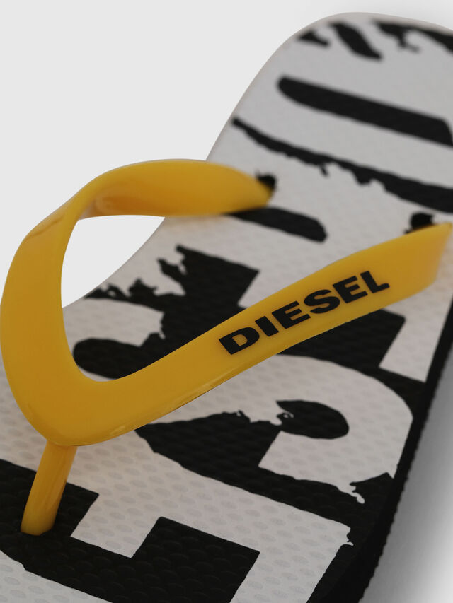 Diesel - FF 22 FLIPPER CH, Black/White - Footwear - Image 3