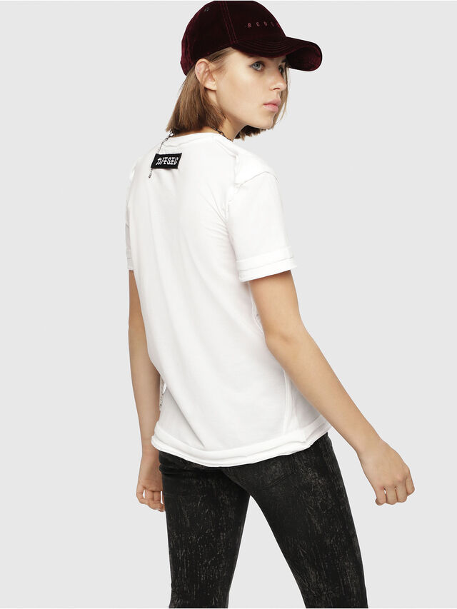 Diesel - T-SILY-WB, White/Black - T-Shirts - Image 2