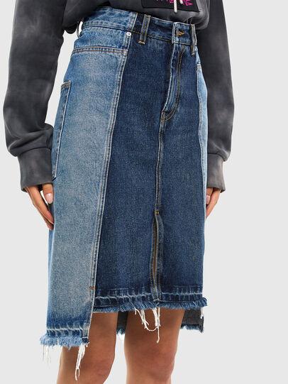 Diesel - DE-PAU-SP, Medium blue - Skirts - Image 3