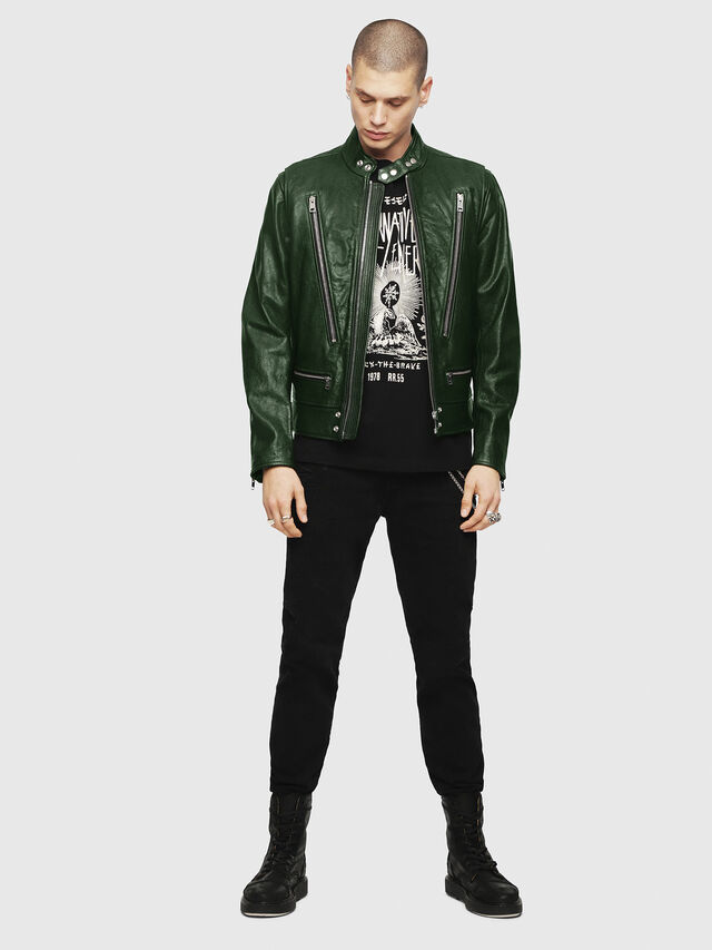 Diesel - L-KOJI, Green - Leather jackets - Image 5