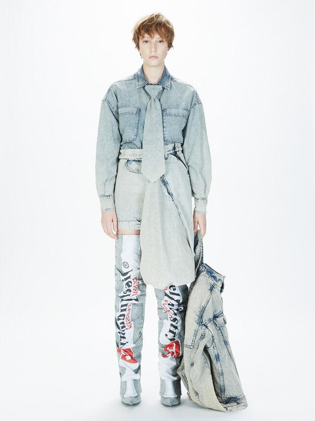 Diesel - SOJK01, Grey Jeans - Jackets - Image 5