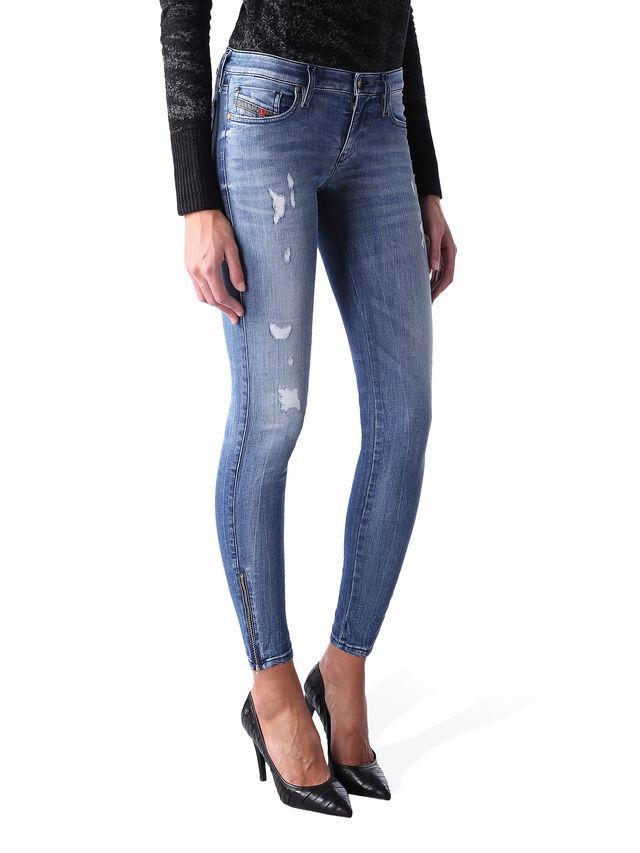 Diesel - Skinzee Low Zip 0847U, Medium blue - Jeans - Image 2