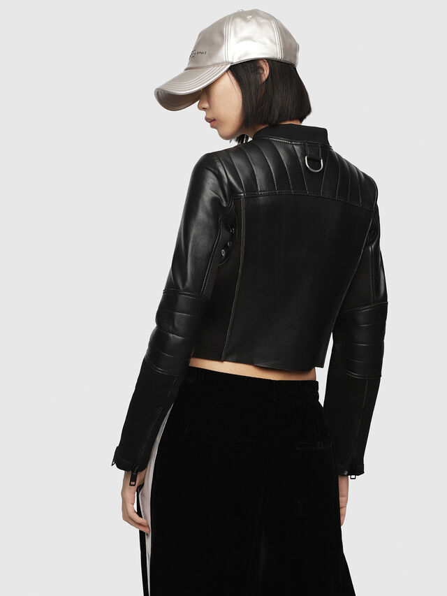 Diesel - L-MARI, Black Leather - Leather jackets - Image 2