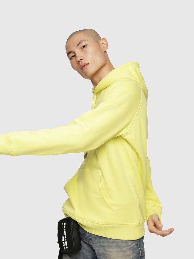 Diesel - S-GIM-HOOD-A, Light Yellow - Sweaters - Image 3