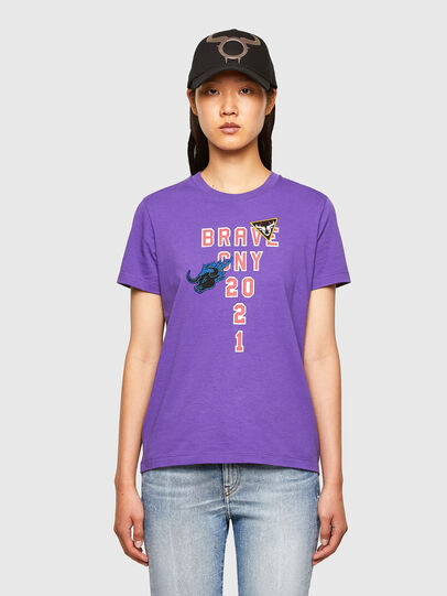 Diesel - CL-T-SILY-O, Violet - T-Shirts - Image 1