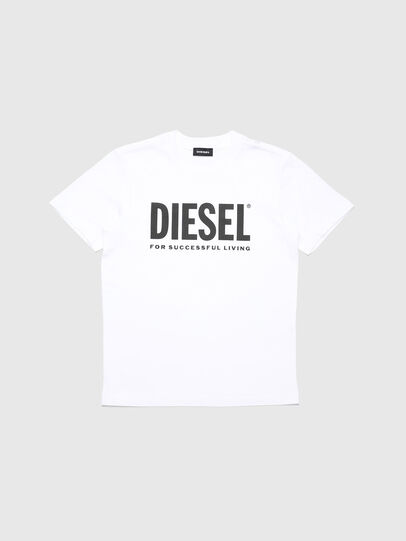 Diesel - TJUSTLOGO, White - T-shirts and Tops - Image 1