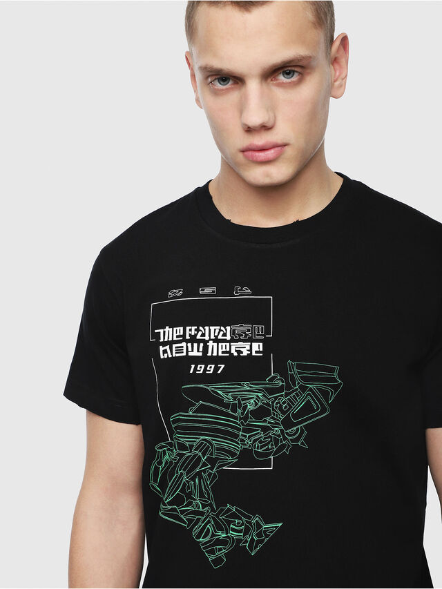 Diesel - T-DIEGO-Y4, Black - T-Shirts - Image 3