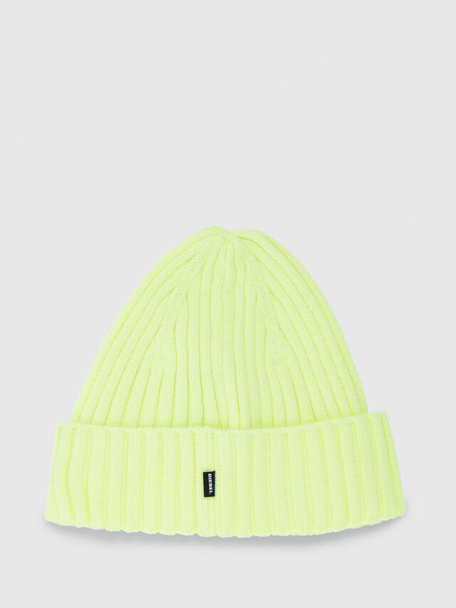 Diesel - K-DIEGO, Yellow Fluo - Knit caps - Image 2