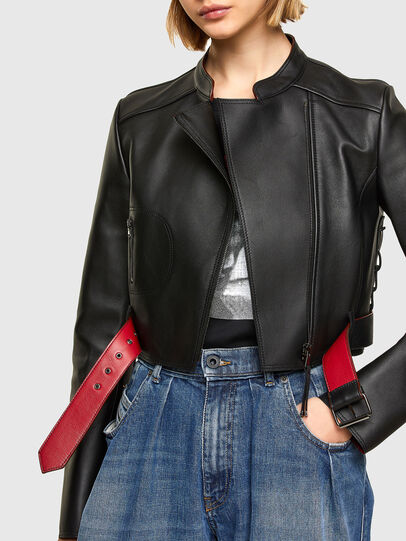 Diesel - L-MIMYY, Black - Leather jackets - Image 5