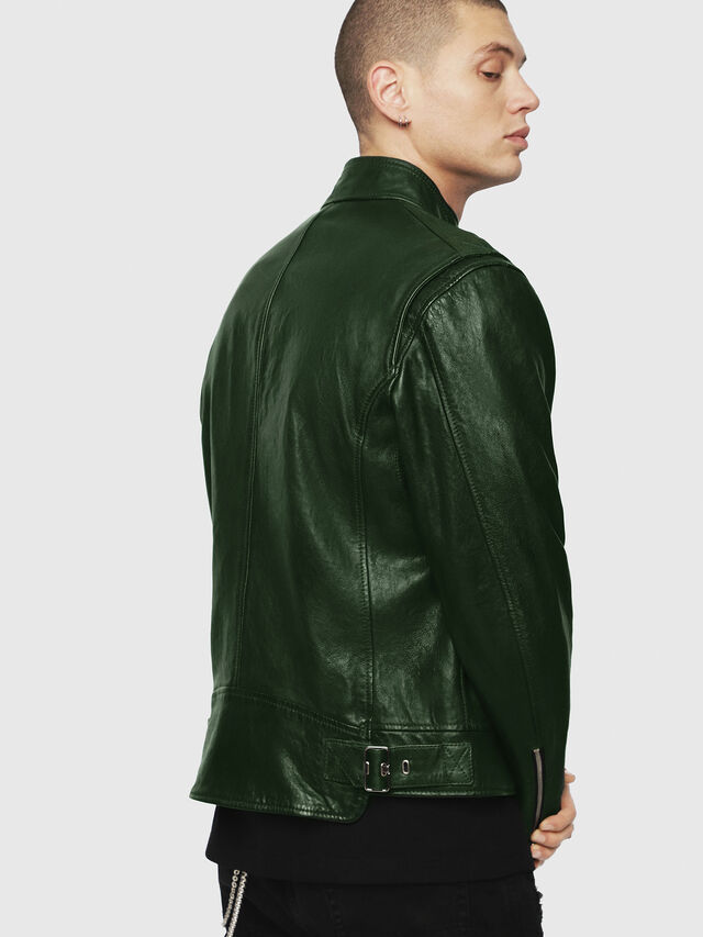 Diesel - L-KOJI, Green - Leather jackets - Image 2