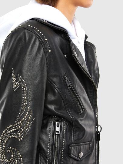 Diesel - L-DIANE, Black - Leather jackets - Image 4