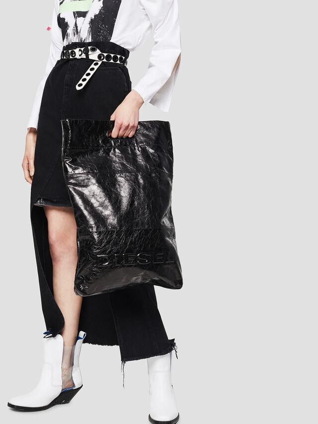 Diesel - F-LITT SHOPPER N/S, Black - Shopping and Shoulder Bags - Image 5