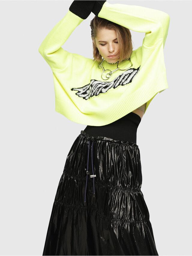 Diesel - M-TICX, Yellow Fluo - Knitwear - Image 5