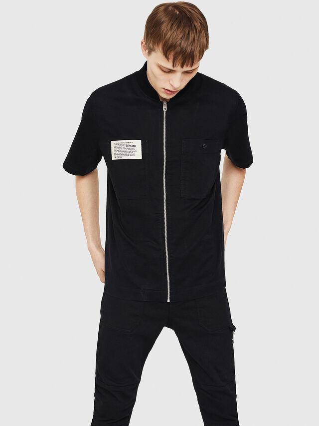 Diesel - S-DRINA, Black - Shirts - Image 1