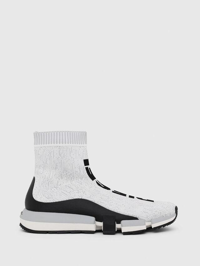 Diesel - H-PADOLA MID SOCK, White/Black - Sneakers - Image 1