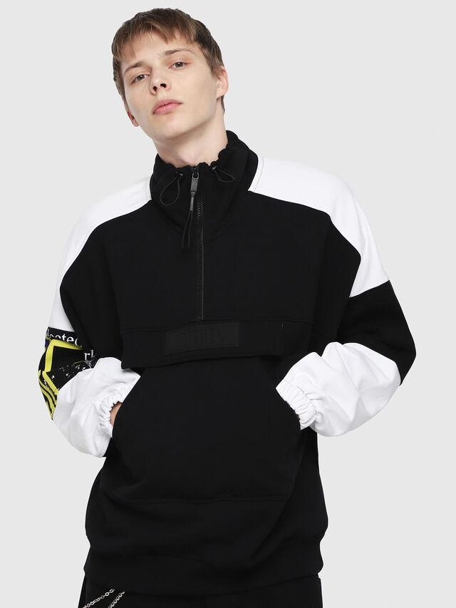 Diesel - S-YOSHIMO, Black/White - Sweaters - Image 1